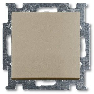 Фото ABB Basic55 2CKA001012A2169 Переключатель одноклавишный (10 А, под рамку, скрытая установка, шампань)