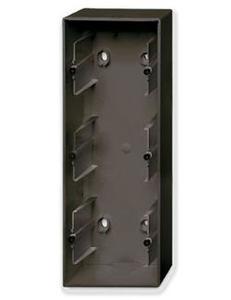 Фото ABB Basic55 2CKA001799A0967 Коробка тройная для открытого монтажа (chateau-черный)