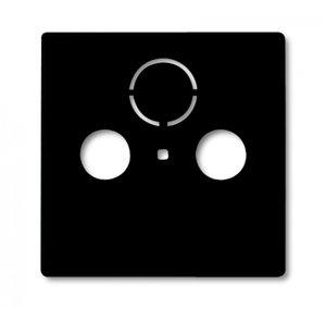 Фото ABB Basic55 2CKA001724A4314 Крышка розетки телевизионной (TV+Radio+(SAT), chateau-черный)