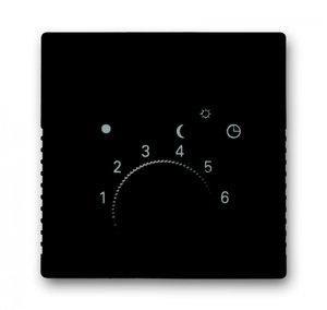Фото ABB Basic55 2CKA001710A3935 Накладка терморегулятора поворотного (с переключателем, chateau-черный)