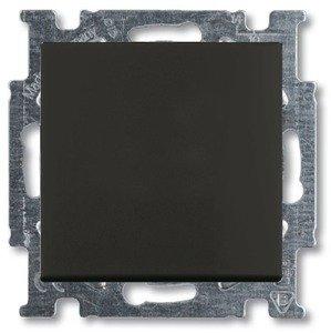 Фото ABB Basic55 2CKA001012A2179 Переключатель одноклавишный (10 А, под рамку, скрытая установка, chateau-черный)