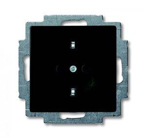 Фото ABB Basic55 2CKA002011A6142 Розетка с заземляющим контактом (16 А, под рамку, скрытая установка, альпийский chateau-черный)