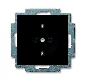 Фото ABB Basic55 2CKA002013A5338 Розетка с заземляющим контактом (16 А, шторки, под рамку, скрытая установка, альпийский chateau-черный)