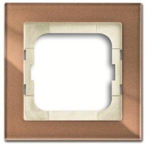 Фото ABB Busch-axcent 2CKA001754A4543 Рамка 1-постовая (коричневое стекло)