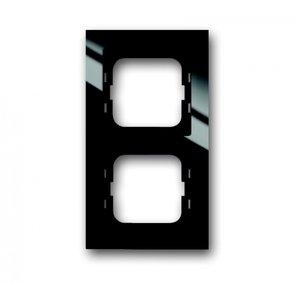 Фото ABB Busch-axcent 2CKA001754A4410 Рамка 2-постовая (черная)