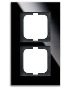 Фото ABB carat 2CKA001754A4323 Рамка 2-ая (стекло черное)