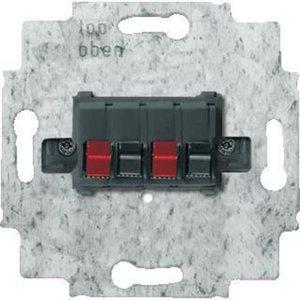 Фото ABB Busch-Jaeger 2CKA000230A0404 Розетка аудио (2xAudio, механизм, скрытая установка, черная)