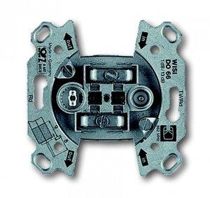 Фото ABB Busch-Jaeger 2CKA000230A0268 Розетка телевизионная (2xTV/Radio/SAT, механизм, скрытая установка, проходная)
