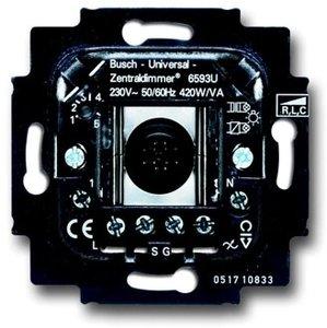 Фото ABB 2CKA006590A0171 BJE Мех Светорегулятор клавишный нажимной универсальный 420W/VA (л/н+эл тр-р или л/н+обм тр-р)