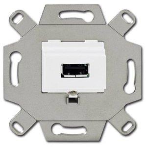 Фото ABB Alpha Exclusive/Alpha Nea 2CKA000230A0419 Розетка USB (1 шт, механизм, с/у, альпийский-белый)