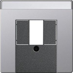 Фото Gira E22 0876203 Крышка розетки USB (USB/TAE, поле для надписи, алюминий)