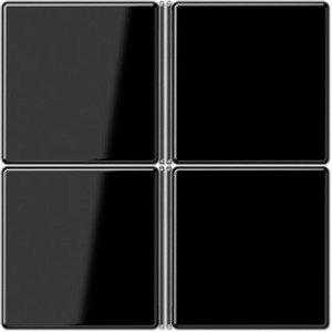 Фото Jung A404TSASW Комплект клавиш 4 группы для кнопочного модуля (черная)