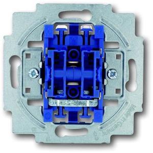 Фото ABB Busch-Jaeger 1413-0-0491 Выключатель двухклавишный 2 Н.О. контакта (10 А, с возм. подсветки, механизм, скрытая установка)