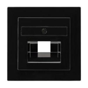 Фото Gira S-Color 027047 Крышка розетки компьютерной (RJ45/UAE/IAE, черная)