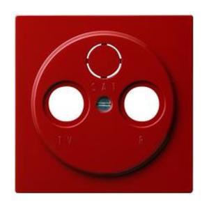 Фото Gira S-Color 086943 Крышка розетки телевизионной (TV+Radio+(SAT), красная)