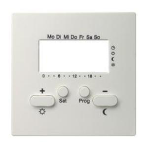 Фото Gira S-Color 146940 Крышка для терморегулятора с часами и функцией охлаждения (белая)