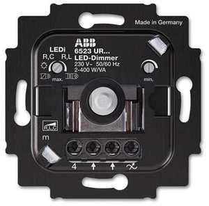Фото ABB 2CKA006512A0345 Светорегулятор поворотно-нажимной (2-100 Вт, механизм, подсветка, с/у)