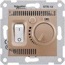 Schneider Electric Sedna SDN6000168 Термостат для электронагревательных приборов +5…+30°С (10 А, 220 В, под рамку, скрытая установка, титан)