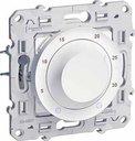 Schneider Electric Odace S52R501 Термостат для электронагревательных приборов +5…+30°С (6-8 А, 220 В, под рамку, скрытая установка, белый)