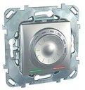 Термостат Unica Top для теплых полов +5…+45°С (10 А, 230 В, выносной термодатчик, под рамку, с/у, алюминий)