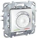 Schneider Electric Unica MGU5.501.18ZD Термостат электронный +5…+30°С (8 А, 230 В, встроенный термодатчик, под рамку, скрытая установка, белый)