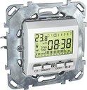 Schneider Electric Unica MGU5.505.18ZD Термостат электронный программируемый +5…+35°С (8 А, встроенный термодатчик, недельный, под рамку, скрытая установка, белый)
