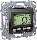 Schneider Electric Unica KNX MGU5.534.12 Термостат электронный 0…+40°С (под рамку, скрытая установка, графит)