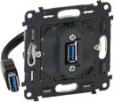 Legrand In'Matic 753082 Розетка USB с подключенным разъемом (USB, механизм, скрытая установка)