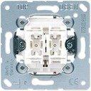Jung 509VU Выключатель двухкнопочный для жалюзи (10 А, с фиксацией, механизм, с/у)