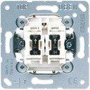 Jung 505U5 Выключатель двухклавишный с двумя лампами тлеющего разряда (10 А, подсветка, механизм, с/у)