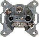 Jung S4100 Розетка телевизионная (TV+R+SAT, механизм, скрытая установка, оконечная)