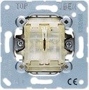Jung 509TU Переключатель двухклавишный самовозвратный проходной (10 А, механизм, с/у)
