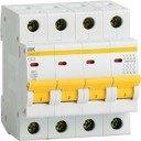 IEK ВА47-29 MVA20-4-063-C Автоматический выключатель четырехполюсный 63А (4.5 кА, C)
