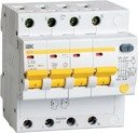 IEK АД-14 MAD10-4-016-C-100 Автоматический выключатель дифференциального тока четырехполюсный 16А (тип AC, 4.5 кА)