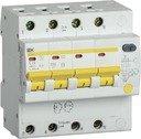 IEK АД-14 MAD13-4-020-C-300 Автоматический выключатель дифференциального тока четырехполюсный 20А (тип AC,