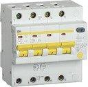 IEK АД-14 MAD13-4-025-C-300 Автоматический выключатель дифференциального тока четырехполюсный 25А (тип AC,