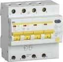IEK АД-14 MAD13-4-063-C-300 Автоматический выключатель дифференциального тока четырехполюсный 63А (тип AC,