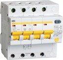 IEK АД-14 MAD10-4-063-C-100 Автоматический выключатель дифференциального тока четырехполюсный 63А (тип AC, 4.5 кА)