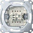 Schneider Electric System M QuickFlex MTN3155-0000 Выключатель двухклавишный с замыкающим контактом (10 А, с возм. подсветки, механизм, скрытая установка)