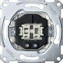 Schneider Electric System M QuickFlex MTN3135-0000 Выключатель двухклавишный (10 А, механизм, подсветка, скрытая установка)