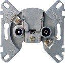 Schneider Electric System M MTN466099 Розетка телевизионная (TV/Radio+SAT, механизм, оконечная, скрытая установка)