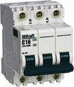 DEKraft ВА-101 11227DEK Автоматический выключатель 3P 8А (4.5 кА, D)
