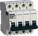 DEKraft ВА-101 11043DEK Автоматический выключатель четырехполюсный 20А (4.5 кА, B)