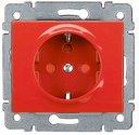 Legrand Galea Life 771029 Розетка с заземляющими контактами (16 А, под рамку, шторки, с/у, красный)