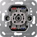 Gira System55 010200 Выключатель одноклавишный двухполюсный (10 А, с возм. подсветки, механизм, скрытая установка)
