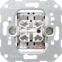 Gira System55 010500 Выключатель двухклавишный (10 А, механизм, скрытая установка)