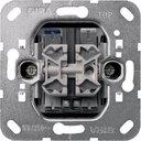 Gira System55 014500 Выключатель двухклавишный (10 А, индикация, механизм, скрытая установка)