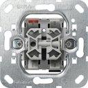 Gira System55 015800 Выключатель жалюзи двухклавишный (10 А, без фиксациии, механизм, скрытая установка)