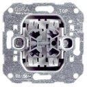 Gira System55 014700 Кнопка 2Н.О. + 2Н.О. двухклавишная (10 А, механизм, скрытая установка)