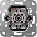 Gira F100 00010600 Выключатель одноклавишный (10 А, с возм. подсветки, механизм, скрытая установка)